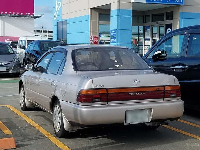 カローラ AE101型 前期型のリヤビュー