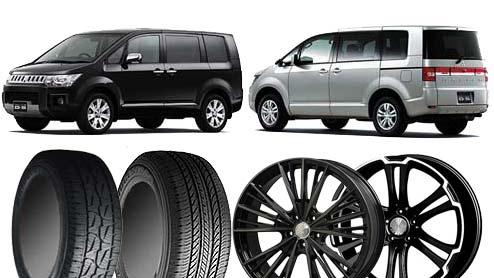 デリカD5の純正タイヤサイズと純正ホイールサイズの全グレード型式一覧