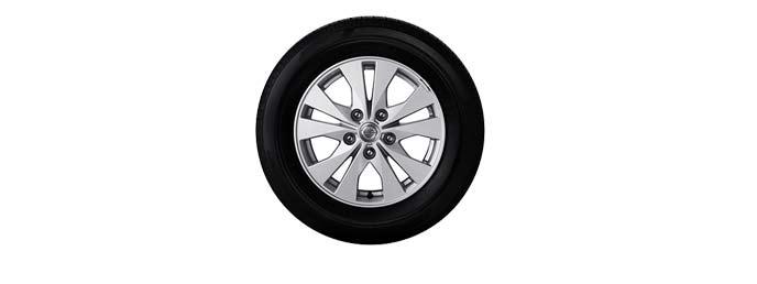 15インチアルミホイールandタイヤ(ハイウェイスターV(4WD)・ハイウェイスター・Gの3モデル)