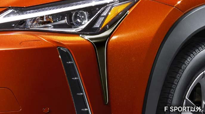 レクサス新型UXのモデリスタ ヘッドランプガーニッシュ