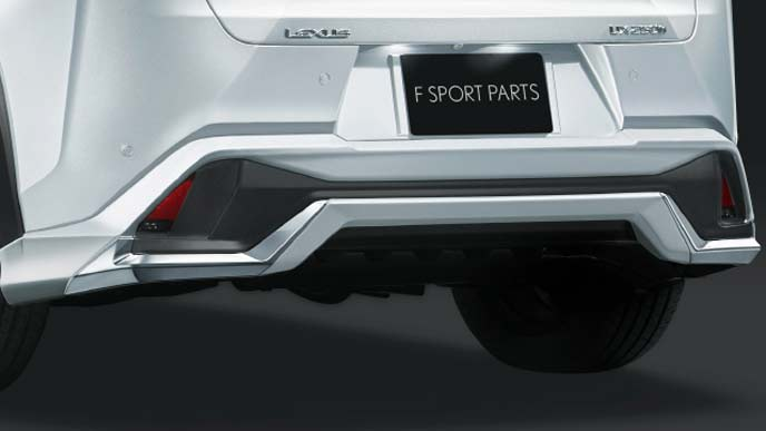 レクサス新型UXのFスポーツ専用モデリスタ リヤスカート