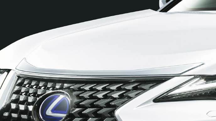 レクサス新型UXのFスポーツ専用モデリスタ フードモール