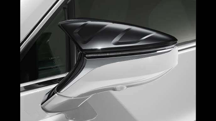 レクサス新型UXのTRD エアロダイナミクスミラーカバー