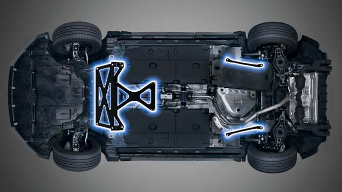 レクサス新型UXのTRD メンバーブレース