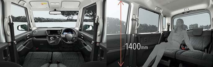 新型ekスペースの車内空間