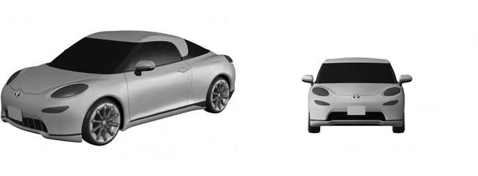 トヨタ新型スポーツカーのフロントのレンダリング画像