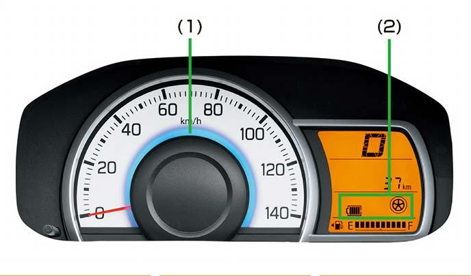 曲線を基調とした柔らかなデザインが特徴のメーターデザイン