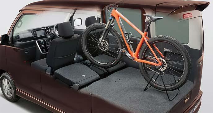新型アトレーワゴンシートアレンジ例:自転車を搭載