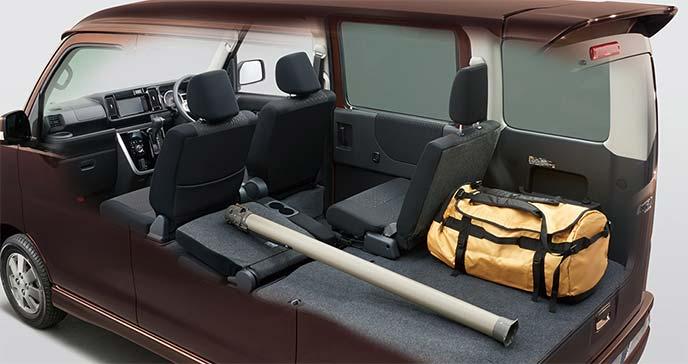 新型アトレーワゴンシートアレンジ例:長尺ものとバッグ