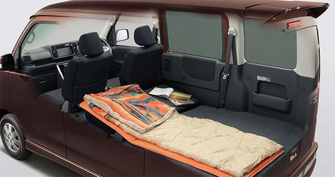 新型アトレーワゴンシートアレンジ例:睡眠スペース