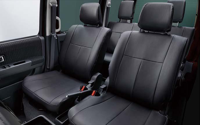 アトレーワゴンのシートカバー:ブラックの本革風