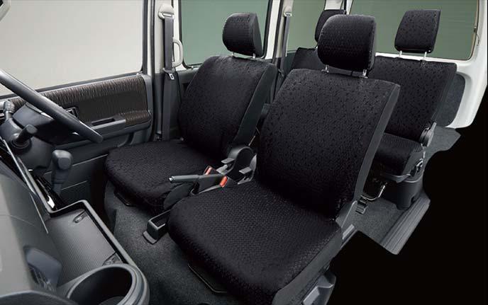 アトレーワゴンのシートカバー:ブラック撥水タイプ
