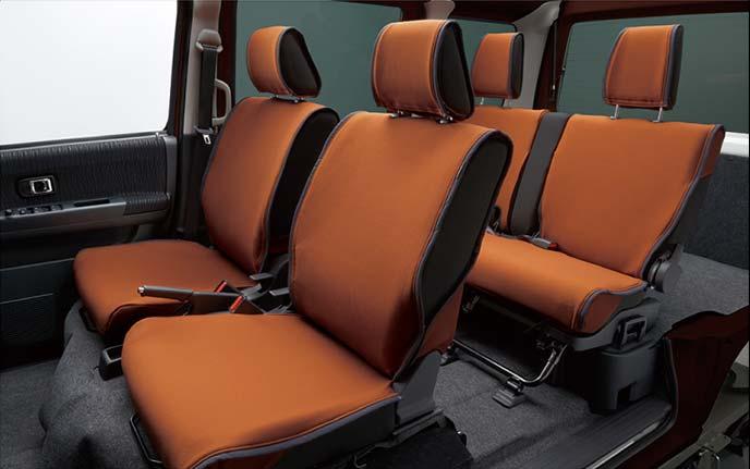 アトレーワゴンのシートカバー:着脱が簡単でお手入れがしやすい洗濯可能なシートクロス