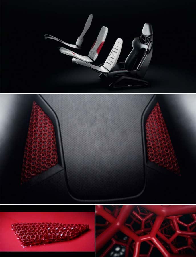 3Dプリントボディフォームフルバケットシート