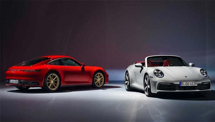 2020年モデルのPorsche 911 CarreraとCabriolet