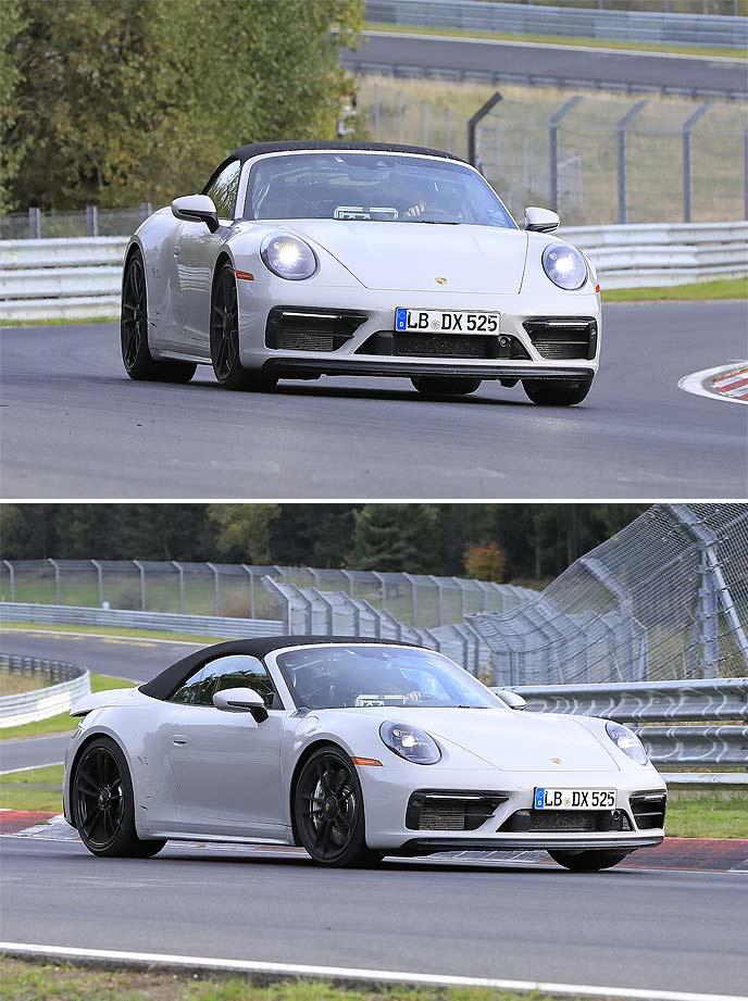 ポルシェ新型911GTSカブリオレの開発車両