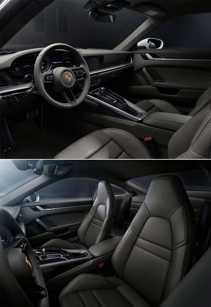 新型911カレラ4のインテリアデザイン