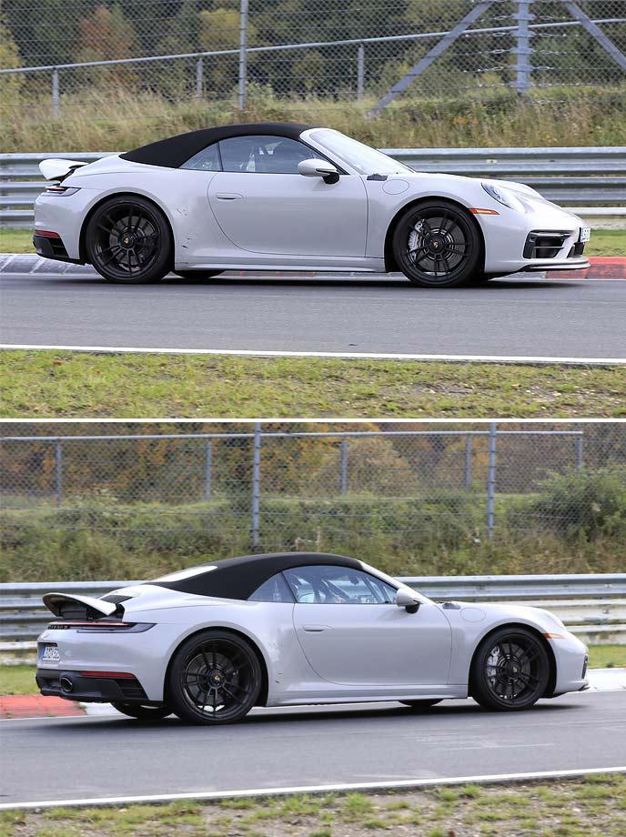 新型911GTSカブリオレの開発車両