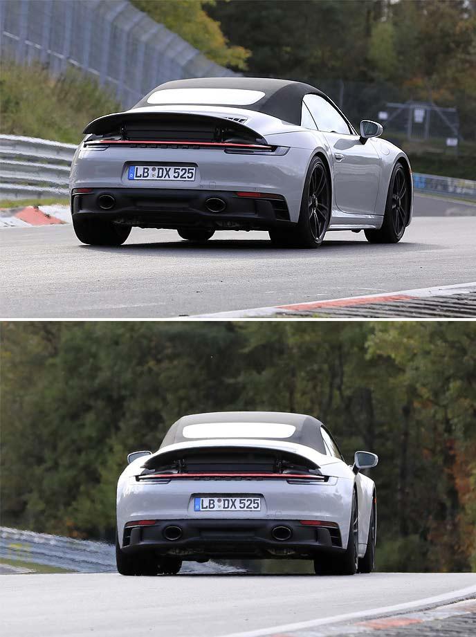 新型911GTSカブリオレの新型911GTSカブリオレのプロトタイプ