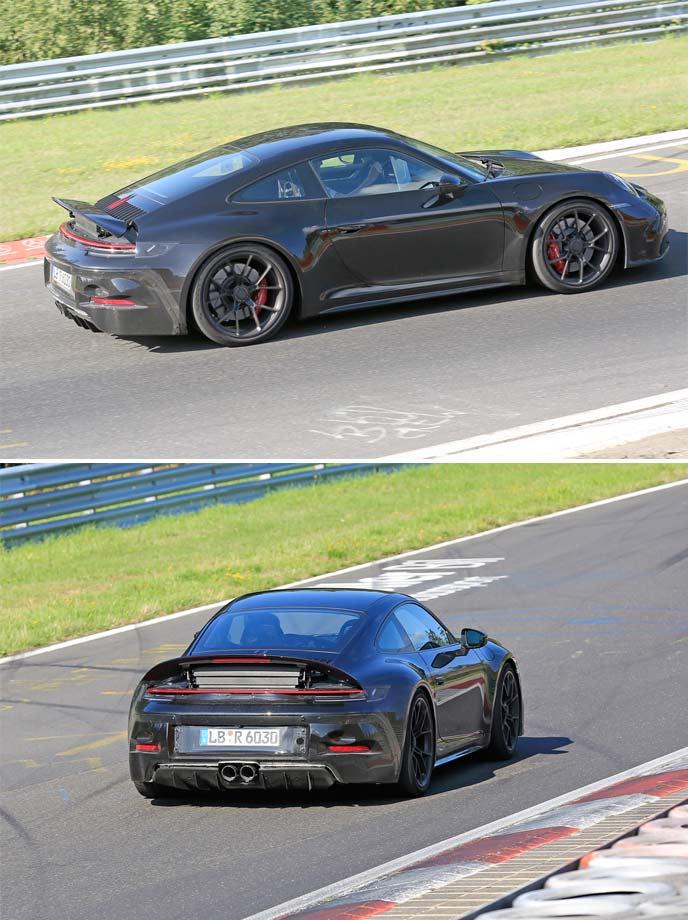911 GT3ツーリングパッケージ プロトタイプのリヤウィング