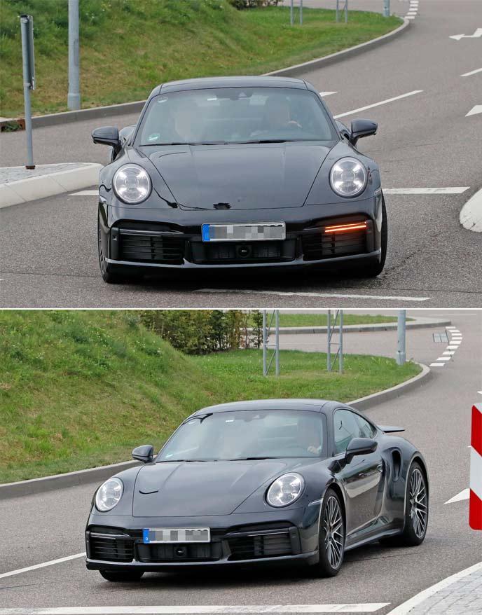 新型911ターボのプロトタイプ