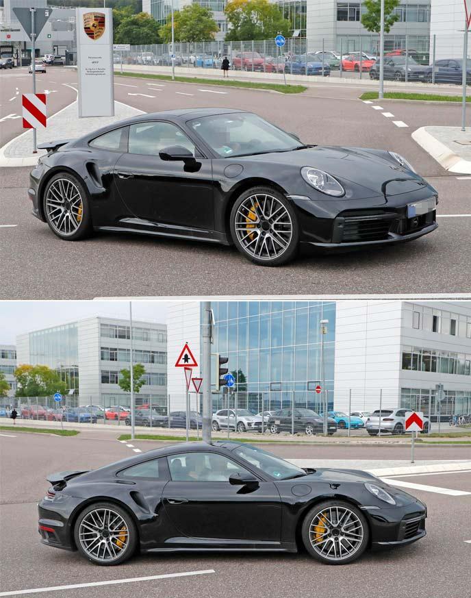 新型911ターボの開発車両
