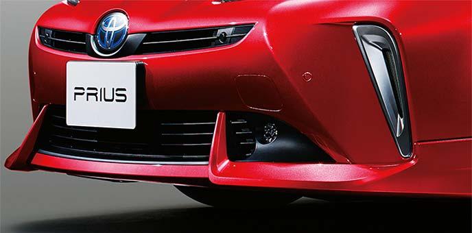 トヨタ純正の新型プリウス用フロントスポイラー