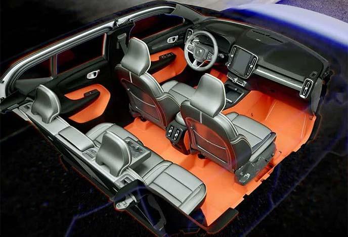 買い物にも便利な収納ポイントを車内のあちこちに設置