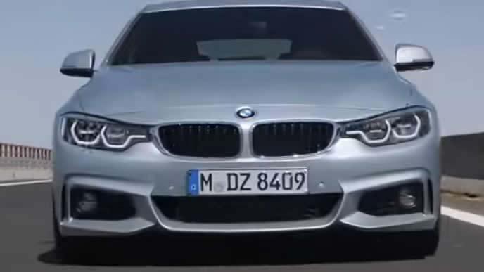 BMW 4シリーズのフロントビュー