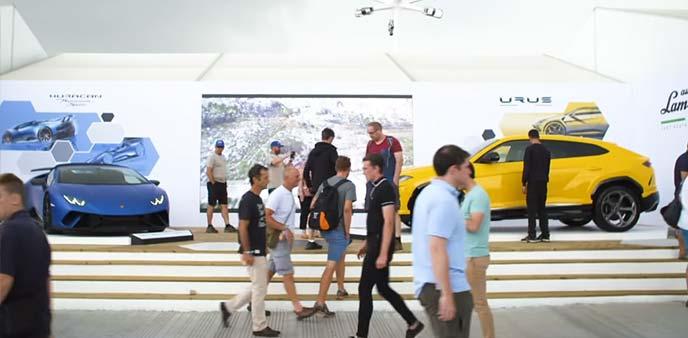 グッドウッド・フェスティバル・オブ・スピード会場のランボルギーニブース