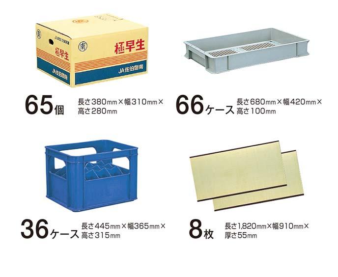 ミカン箱65個分、あるいはパンケース66個分、あるいはビールケース36ケース分、あるいは畳8枚分が収納可能なラゲッジルーム