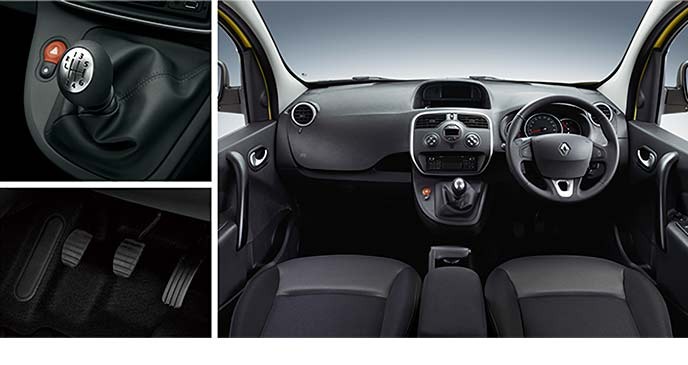 Renault新型カングー ZEN 6MTのコックピット