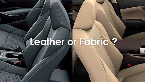 革シートと布シートどちらがおすすめ?それぞれの素材が持つメリット・デメリット