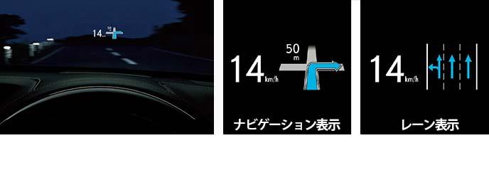 メーカーオプションのヘッドアップディスプレイ(レクサスGSのversion L・F SPORT・I  package)