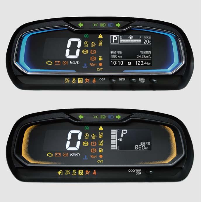 新型ピクシスエポックの自発光式デジタルメーター