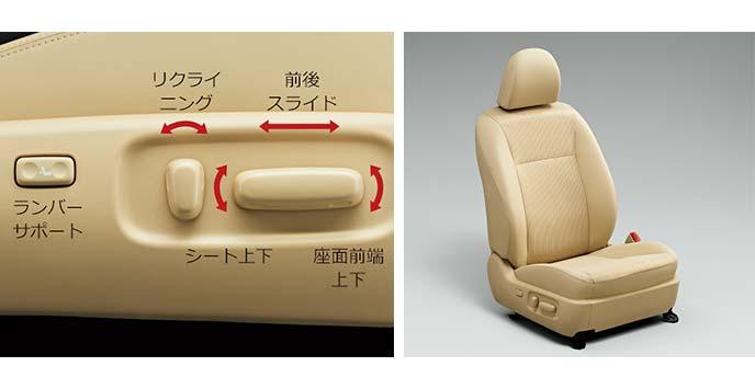 運転席の8ウェイパワーシート