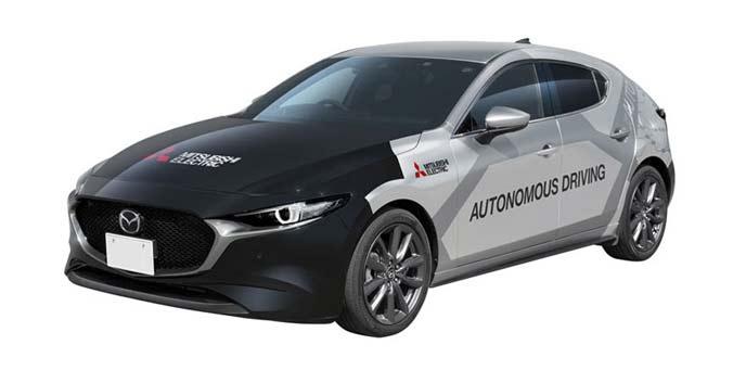 三菱電機の自動運転実証実験車「xAUTO」のエクステリア