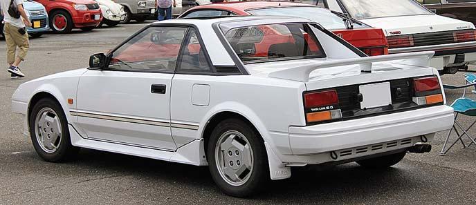 トヨタ MR2 AW11型のエクステリア