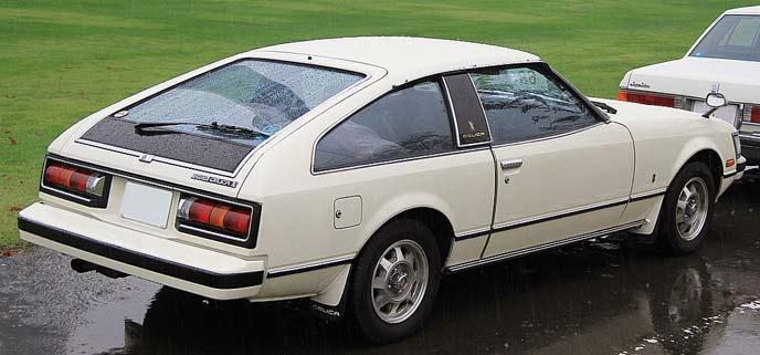 トヨタ セリカXX A40/A50型のリアビュー