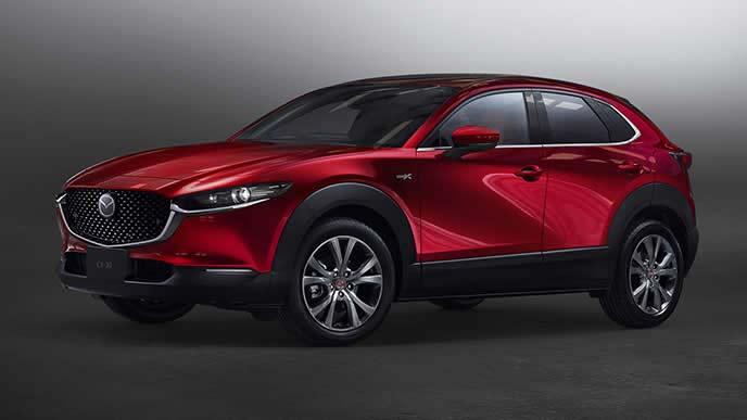 2020年12月に商品改良した新型CX-30のエクステリア