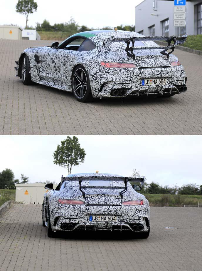 メルセデス AMG GT Rブラックシリーズの開発車両