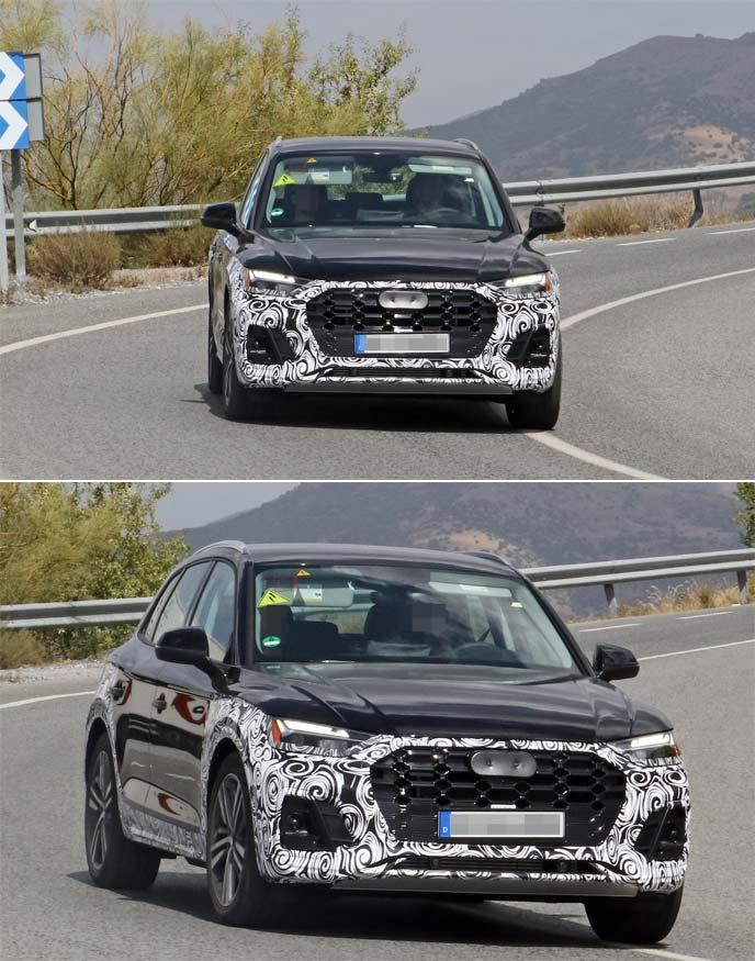 新型アウディQ5の開発車両