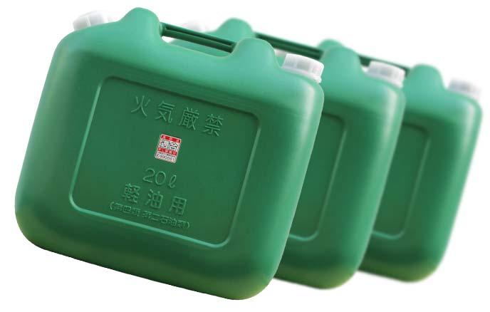 軽油用の緑色ポリタンク
