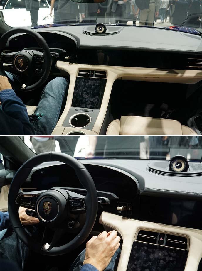 ポルシェ・タイカンターボの運転席