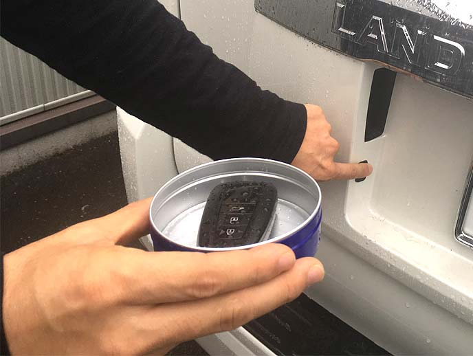 アルミ缶は少し蓋が開いていても電波をある程度遮断する