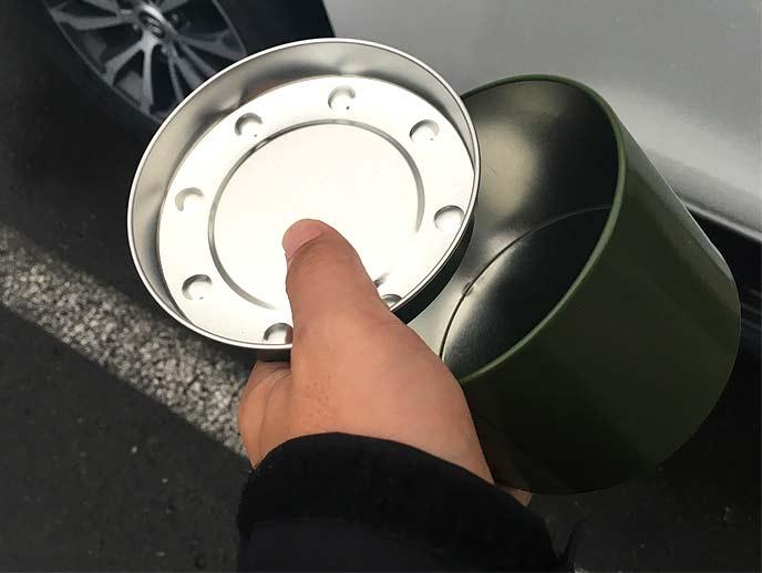深さのあるスチール缶は電波を遮断