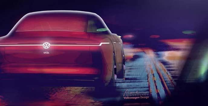4ドアセダンEVのコンセプトカーのティーザー画像