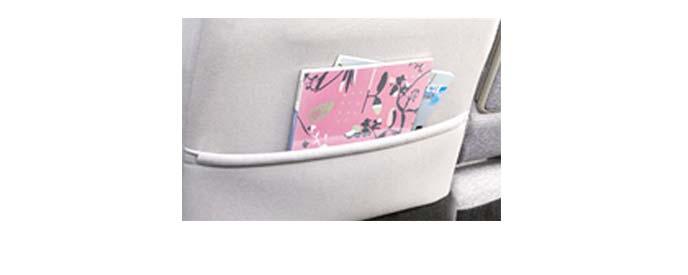 助手席シート背面のバックポケット