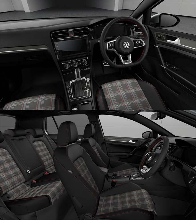 特別仕様車ゴルフ GTI Dynamicのタータンチェック柄シート