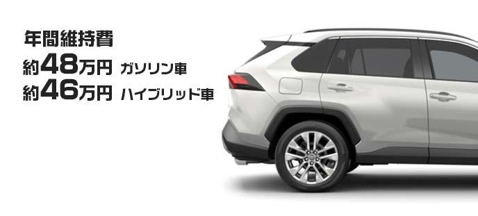 トヨタ 新型RAV4 リアサイドビューと年間維持費概算